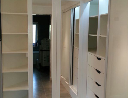 Dressing Room Storage with White Gloss Finish