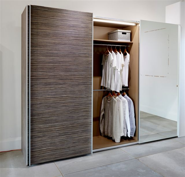 Stylish sliding wardrobe with mirror wow interior design for Sliding wardrobe interior designs