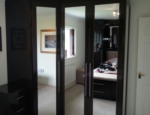 Walnut Mirrored Wardrobes