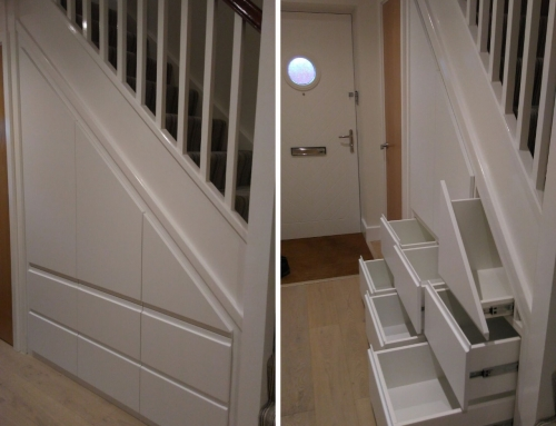 Angled Under-stairs Cupboard