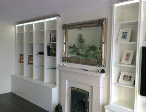 Living room media storage unit