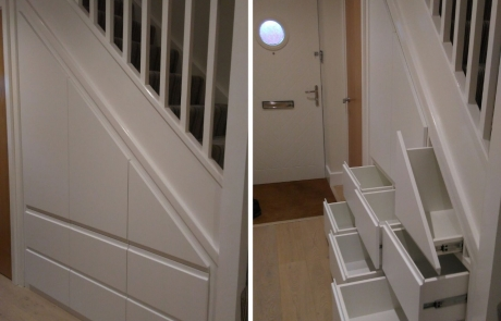 anlgled understairs cupboard project